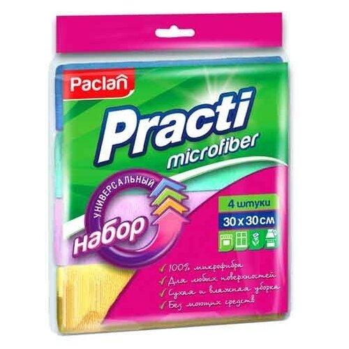 Салфетка универсальная Paclan Practi Microfiber 4 шт