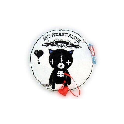 Игрушка-подушка Magic Bear Toys Кот Живое сердце 28 см magic bear toys мягкая игрушка мяч мягкий диаметр 7 см