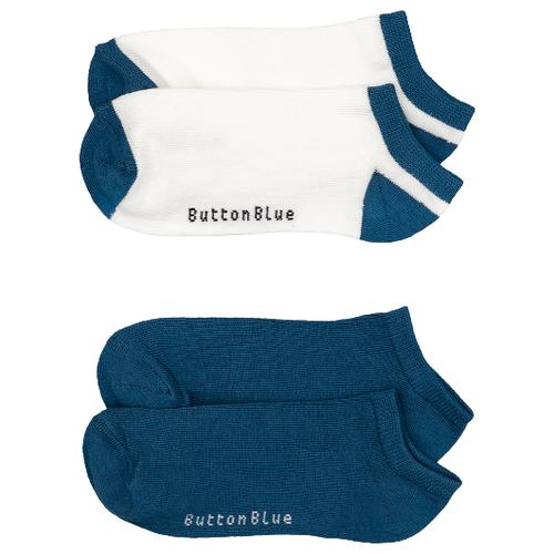 Носки Button Blue комплект 2 пары размер 16-18, синий/белый