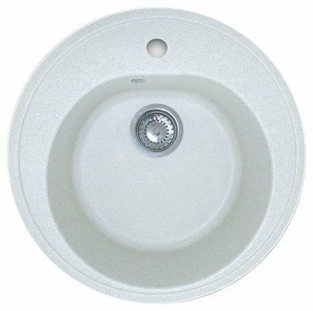 Врезная кухонная мойка GranFest Rondo GF-R510 51х51см искусственный мрамор