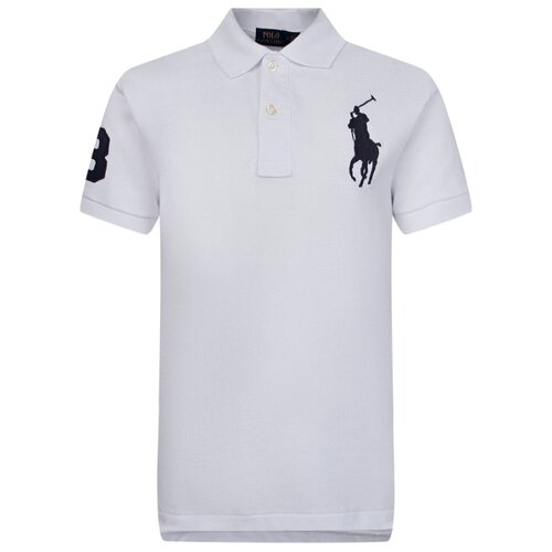 Купить Поло Ralph Lauren размер 122, белый, Футболки и майки