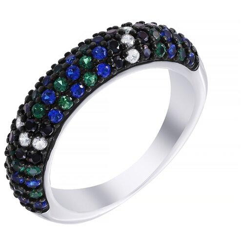 ELEMENT47 Кольцо из серебра 925 пробы с кубическим цирконием YR01524_KO_001_WG, размер 19
