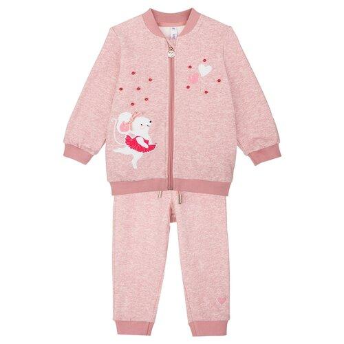 Комплект одежды playToday размер 80, светло-розовый комплект одежды playtoday размер 110 белый светло розовый