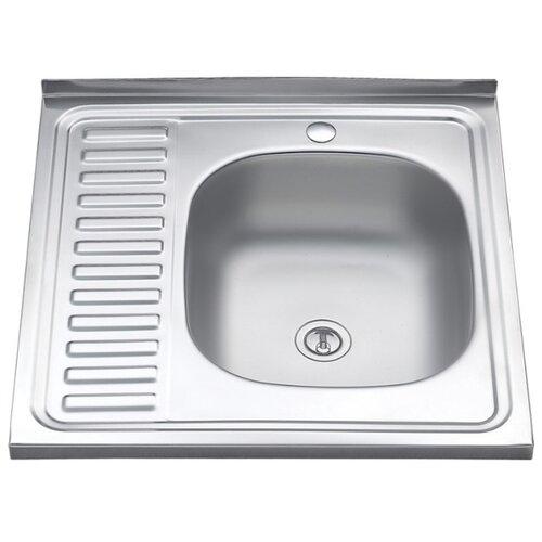 Мойка нержавеющая сталь 600 х600 накладная правая 0,4/160мм MLN-6060 R кухонная мойка melana 015 t r 10