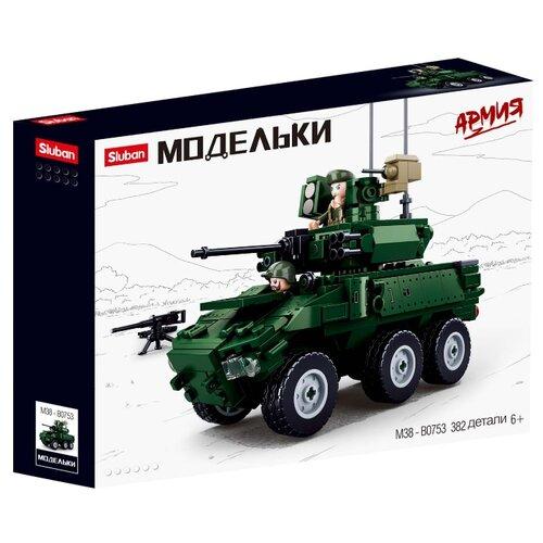 Купить Конструктор SLUBAN Модельки M38-B0753 Колёсная боевая машина, Конструкторы