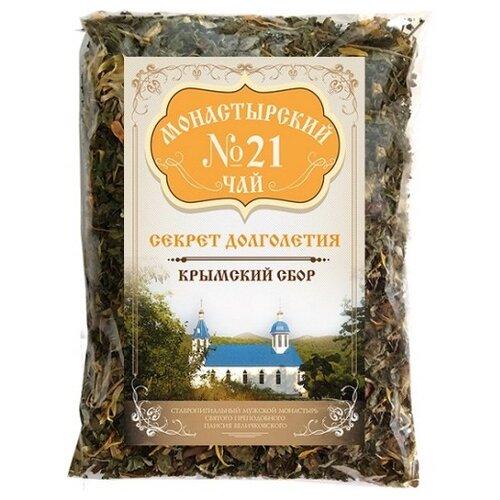 Фото - Чай травяной Крымский чай Монастырский № 21 Секрет долголетия, 100 г чай травяной aroma монастырский 100 г