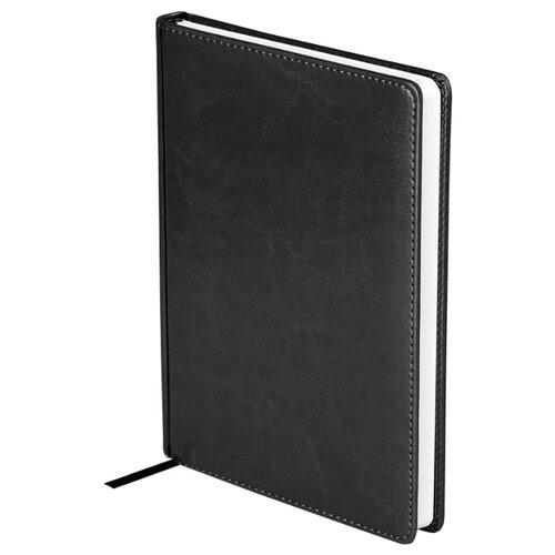 Купить Ежедневник OfficeSpace Nebraska недатированный, искусственная кожа, А5, 136 листов, черный, Ежедневники, записные книжки
