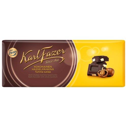 Шоколад Fazer темный с цельным фундуком 47%, 200 г