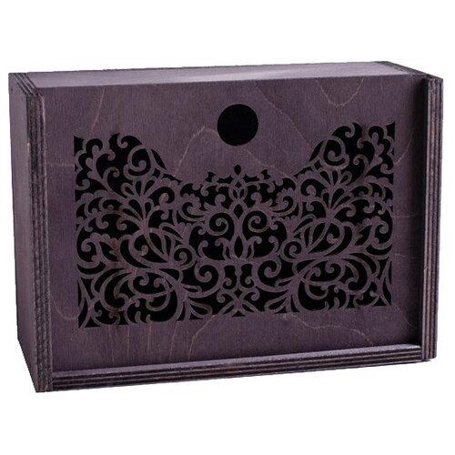 Коробка подарочная Дарите счастье Для тебя 20 х 8 х 14 см черный коробка подарочная дарите счастье с любовью для тебя 23 х 7 5 х 16 см красный белый