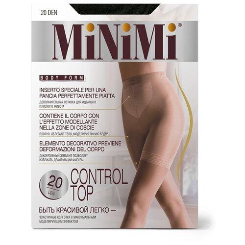 Колготки MiNiMi Control Top 20 den, размер 3-M, nero (черный) колготки minimi lanacotone 180 den размер 3 m nero черный