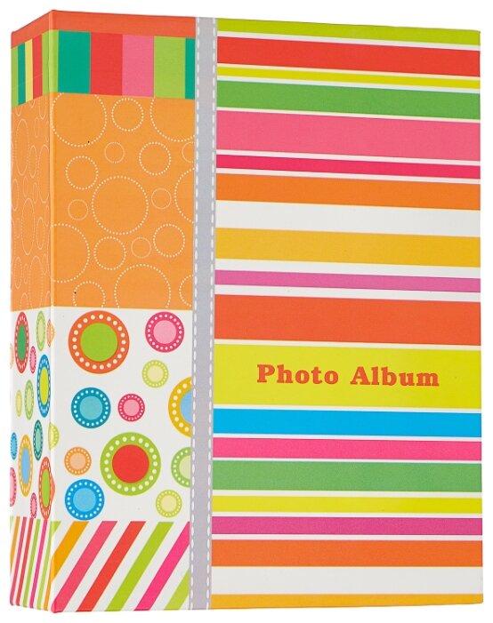 """Фотоальбом BRAUBERG на 100 фотографий 10х15 см, твердая обложка, """"Абстракция"""", разноцветный, 390661"""