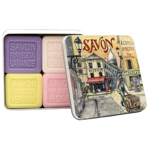 Купить Набор кускового мыла La Savonnerie de Nyons Montmartre, 100 г, 4 шт.