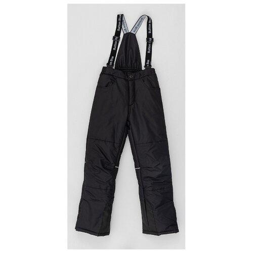 Купить Брюки Button Blue 220BBGA6402 размер 122, черный, Полукомбинезоны и брюки