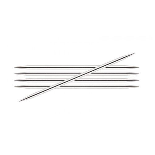 Купить Спицы Knit Pro Nova Metal 10122, диаметр 3.8 мм, длина 15 см, серебристый