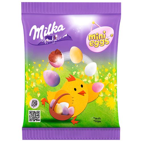 Фигурный шоколад Milka Mini Eggs молочный в форме яйца в сахарной глазури фигурный шоколад milka mini eggs молочный в форме яйца в сахарной глазури 24 шт