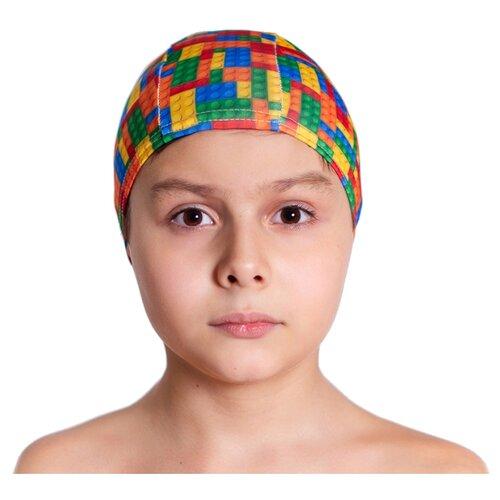 Шапочка для плавания Aruna Лего зеленый/синий/оранжевыйАксессуары для плавания<br>