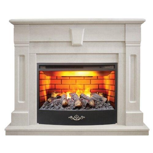 Электрический камин RealFlame Kellie 25,5/26 + Firestar 25,5 3D белый камень электрический камин realflame kellie 25 5 26 firestar 25 5 3d белый камень