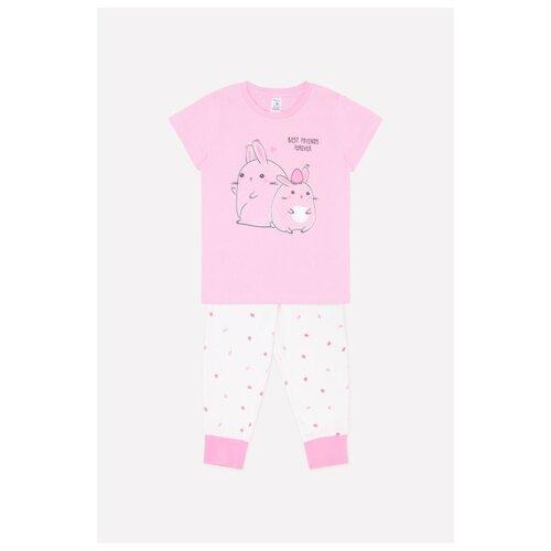 Пижама crockid размер 116, розовая вишня/ земляника на сахаре сорочка crockid размер 116 лесная земляника на сахаре