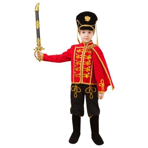 Купить Костюм Батик Бравый Гусар (1066 к-20), черный/красный/золотой, размер 110-56, Карнавальные костюмы