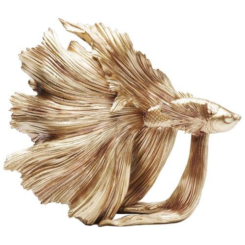 KARE Design Статуэтка Fish, коллекция Рыба 34*37*14, Полирезин, Золотой статуэтка faberge oc33719 серый золотой черный
