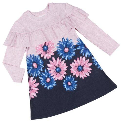 Платье ALENA размер 128-134, бледно-розовый/синий