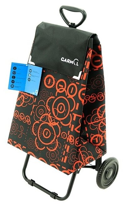 Купить Тележка с сумкой 203TL LV TELESCOPICO LOVE шасси TELESCOPICO MINI, С-591 (черный/красный) по низкой цене с доставкой из Яндекс.Маркета