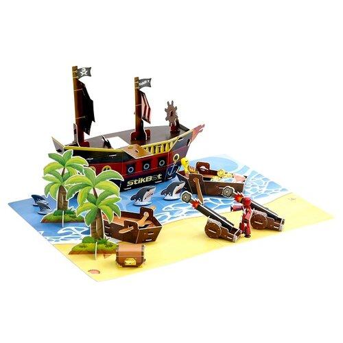 Игровой набор Zing Stikbot Пиратский корабль TST623P zing игрушка zing stikbot мегадино