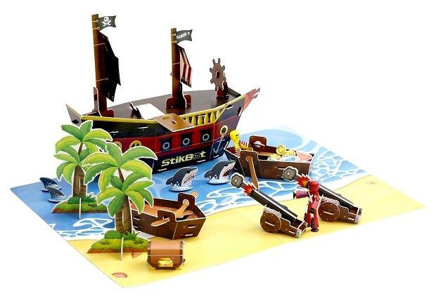 Игровой набор Zing Stikbot Пиратский корабль TST623P
