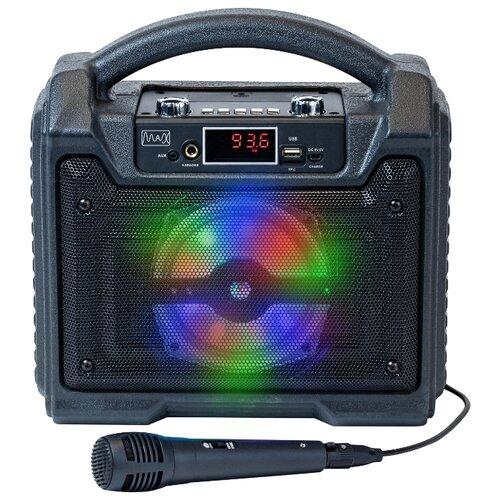 Портативная акустика Max MR 372 черный