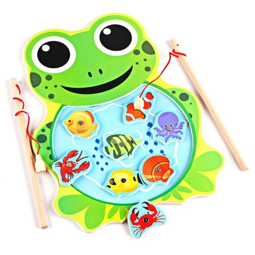 Фото - Бирюлька Shantou Gepai Рыбалка Лягушка 635234 зеленый бирюлька djeco рыбалка цвета разноцветный