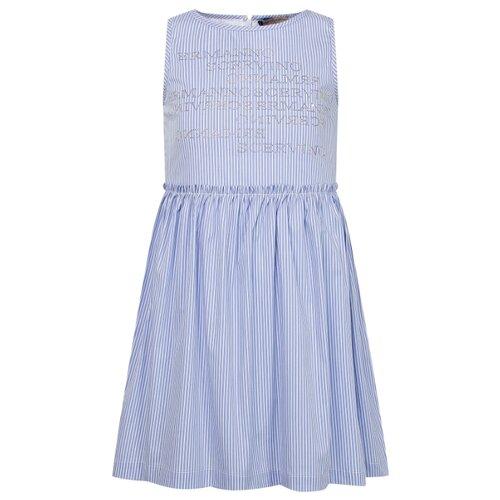 Купить Платье Ermanno Scervino размер 164, голубой/полоска, Платья и сарафаны