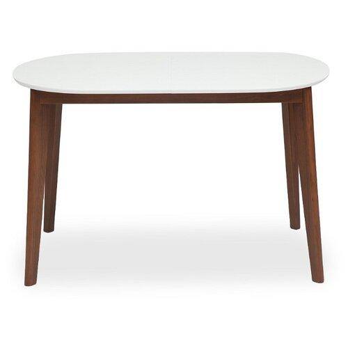 Стол кухонный TetChair Bosco, раскладной, ДхШ: 120 х 80 см, длина в разложенном виде: 150 см, белый/коричневый