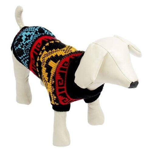 Свитер для собак Пижон размер 14 орнамент на черном