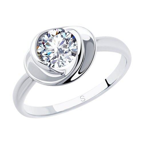 SOKOLOV Кольцо из серебра с фианитом 94012882, размер 17 фото