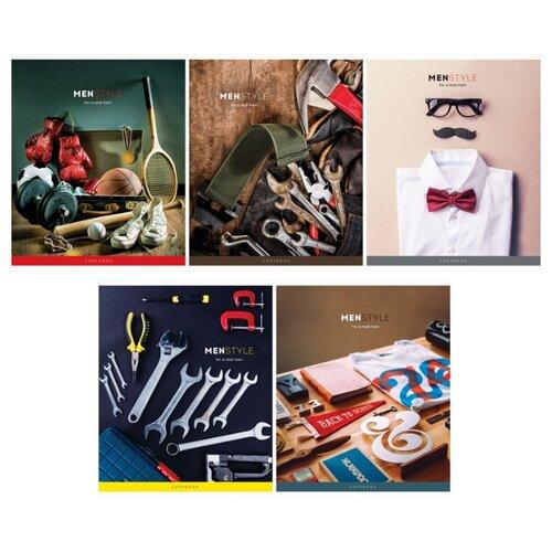 Купить ArtSpace Упаковка тетрадей Стиль. Men's style Т96к_26733, 5 шт., клетка, 96 л., Тетради