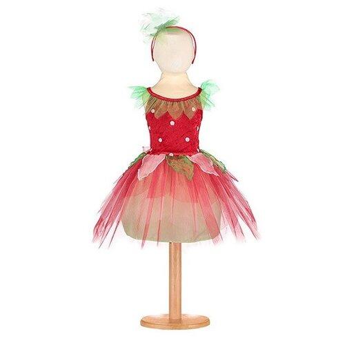 Костюм travis designs Клубничка, красный/салатовый, размер 2-3 года платье travis designs бальное платье розовый размер 3 4 года