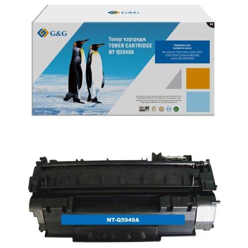 Фото - Картридж лазерный G&G NT-Q5949A черный (2500стр.) для HP LJ 1160/1320/3390/3392 картридж лазерный комус 49a q5949а черный для нр1160 1320 3390 3392