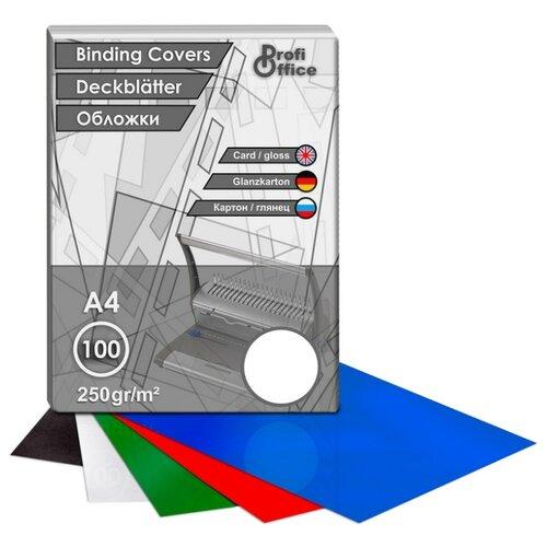 Фото - Обложки для переплета картонные ProfiOffice белый глянец, А4, 250г/м2, 100 штук в упаковке портмоне profioffice mt 48s синий
