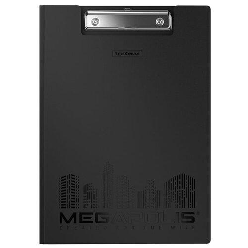 Купить ErichKrause Папка-планшет с зажимом Megapolis А4, пластик черный, Файлы и папки