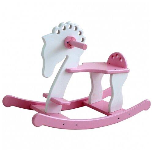 Купить Качалка SunnyWoods лошадка Лира (L232001) белый/розовый, Каталки и качалки