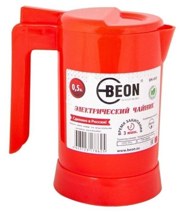 Купить Чайник Beon BN-003 0.5л, красный по низкой цене с доставкой из Яндекс.Маркета