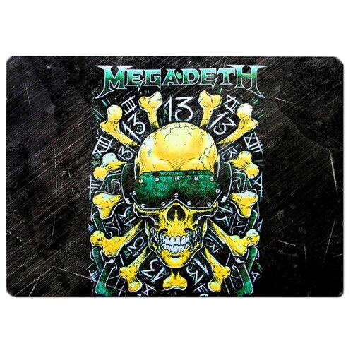 Коврик для мыши Megadeth череп в очках