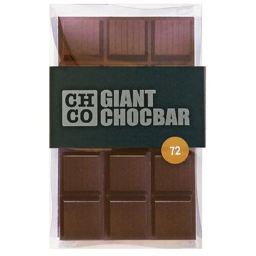 Шоколад CHCO Giant Chocbar темный 72%, 1000 г chco chocbar xl de luxe milk 40% молочный шоколад с клубникой 300 г