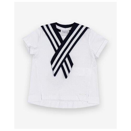 Футболка Gulliver Baby размер 92, белый/синий платье gulliver baby размер 92 синий