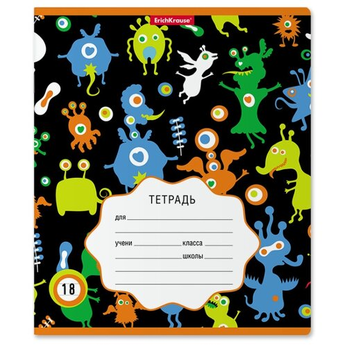 Купить ErichKrause Упаковка тетрадей Funny Monsters 018010154-49174, 10 шт., линейка, 18 л., Тетради