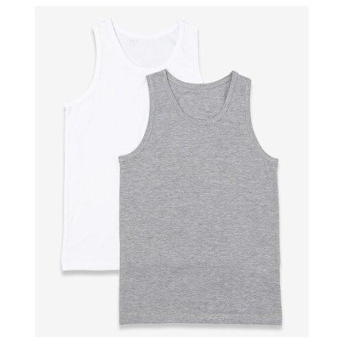 Купить Майка Button Blue 2 шт., размер 128-134, серый, Белье и пляжная мода
