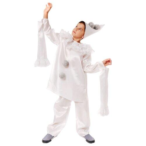 Купить Костюм пуговка Пьеро (2115 к-21), белый, размер 110, Карнавальные костюмы