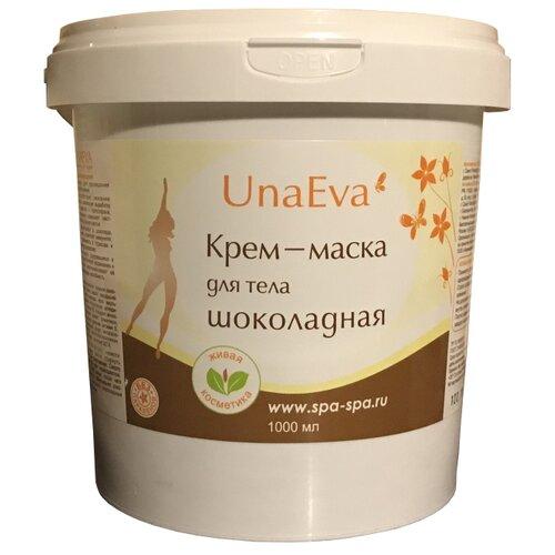 Unaeva маска шоколадная для обертывания для лица и тела 1000 мл