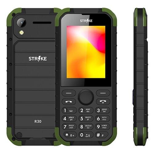 Телефон Strike R30 черный / зеленый