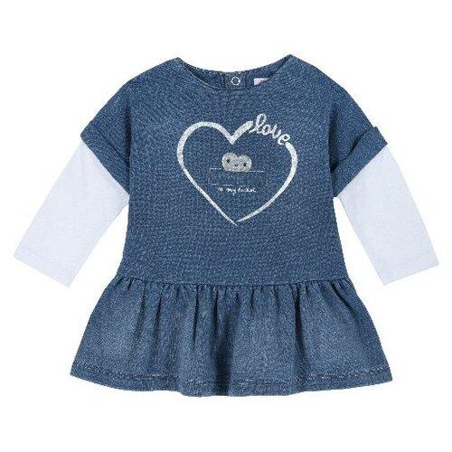 Купить Платье Chicco размер 74, синий, Платья и юбки